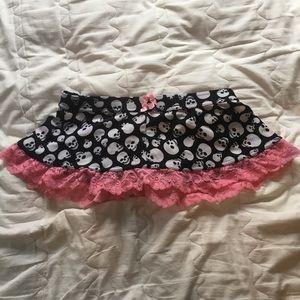 Other - Skull Lingerie Skirt
